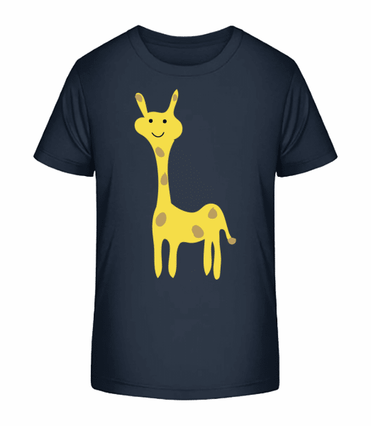 Kids Comic - Giraffe - Kid's Premium Bio T-Shirt - Navy - Vorn