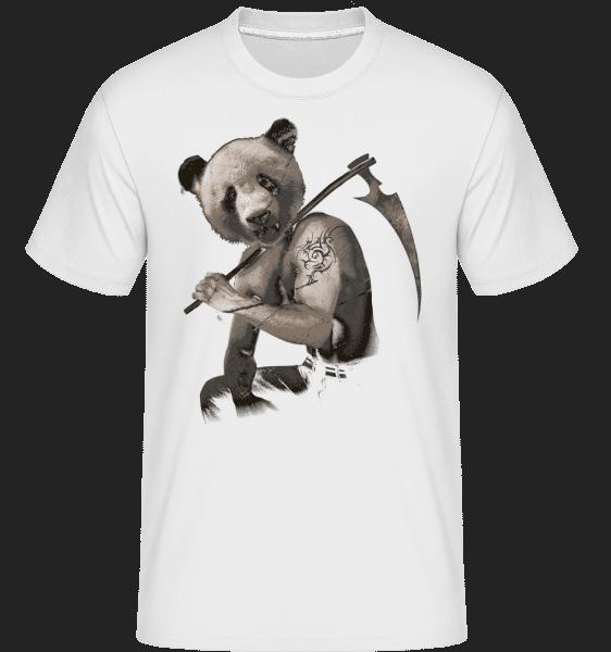 Sensen Panda - Shirtinator Männer T-Shirt - Weiß - Vorn
