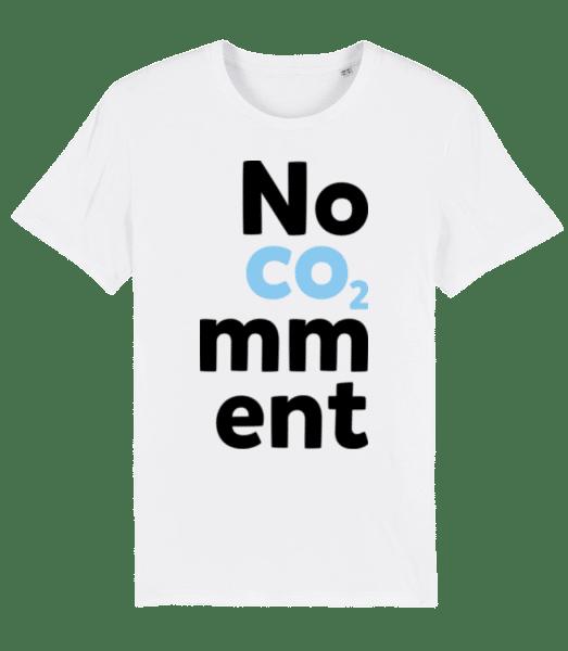 No Comment - Männer Premium Bio T-Shirt Stanley Stella - Weiß - Vorn