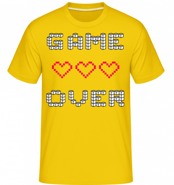 Game over Hearts Sign -  Shirtinator tričko pro pány - Zlatožlutá - Napřed