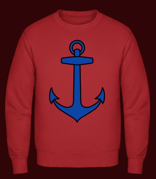 Anchor - Classic Set-In Sweatshirt - Red - Vorn