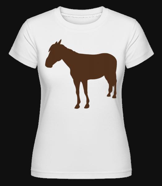 kôň -  Shirtinator tričko pre dámy - Biela - Predné