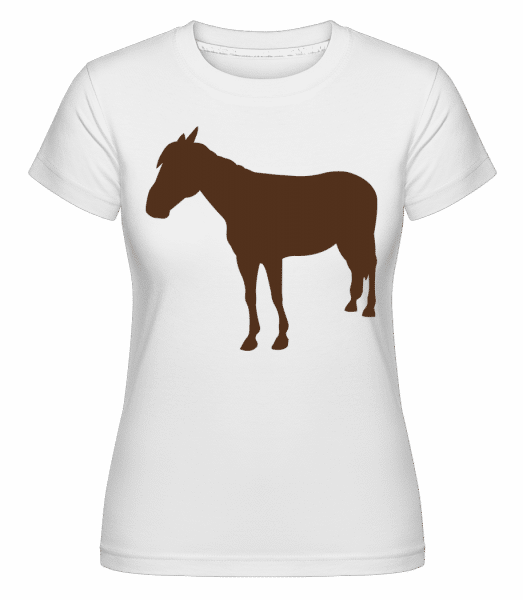 Horse -  Shirtinator Women's T-Shirt - White - Vorn