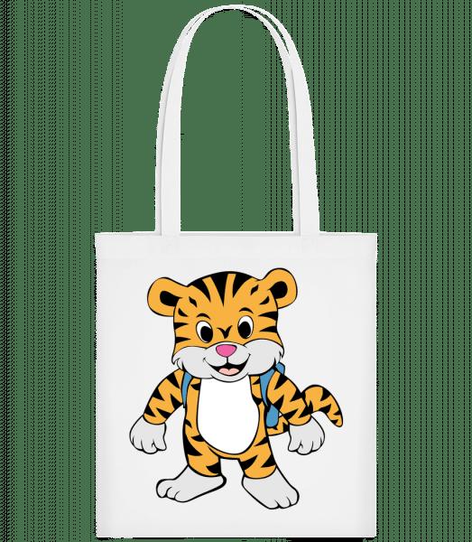 Süßer Tiger mit Rucksack - Carrier Bag - White - Vorn