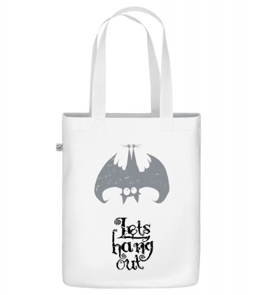"Let's Hang Out Bat - Organic ""Earth Positive"" tote bag - White - Vorn"