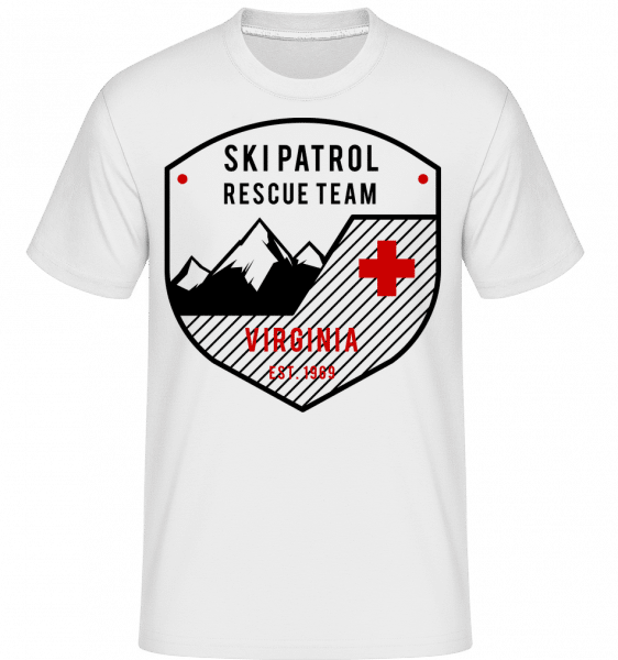 Ski Patrol Sign -  Shirtinator Men's T-Shirt - White - Vorn