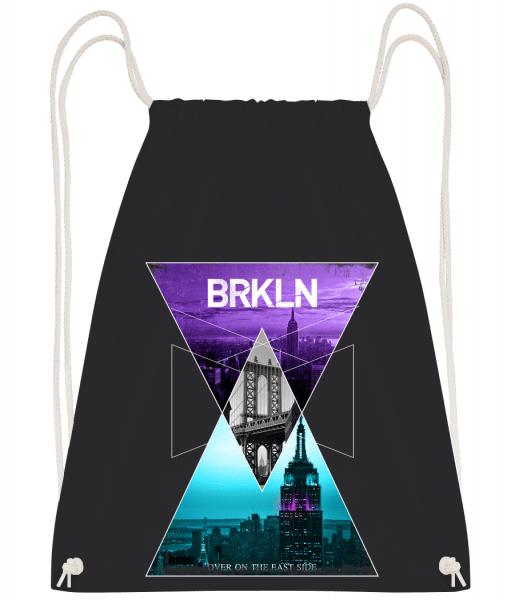 Brooklyn - Drawstring batoh so šnúrkami - Čierna1 - Predné