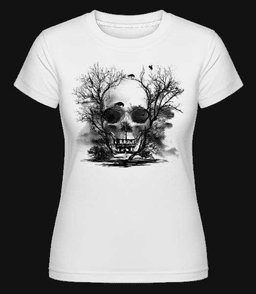 Death Trees -  Shirtinator Women's T-Shirt - White - Vorn