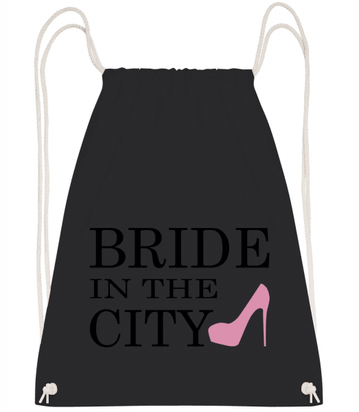 Bride In The City - Drawstring Backpack - Black - Vorn