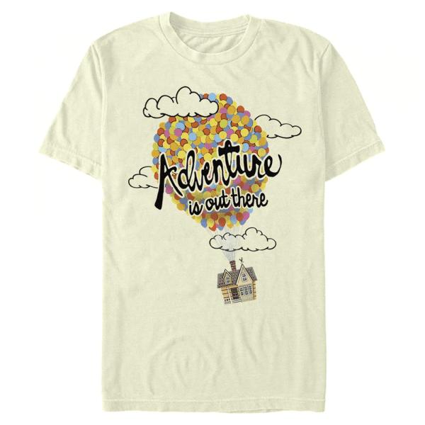 Adventure Balloons - Pixar Up - Men's T-Shirt - Cream - Front
