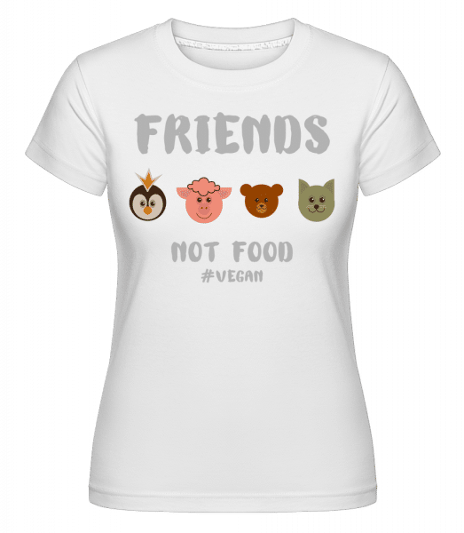 Friends Not Food -  Shirtinator Women's T-Shirt - White - Vorn