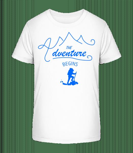 The Adventure Begins - Kinder Premium Bio T-Shirt - Weiß - Vorn