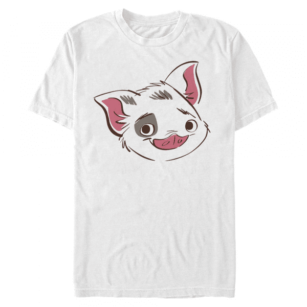 Big Face Pua Group Shot - Pixar Moana - Men's T-Shirt - White - Front