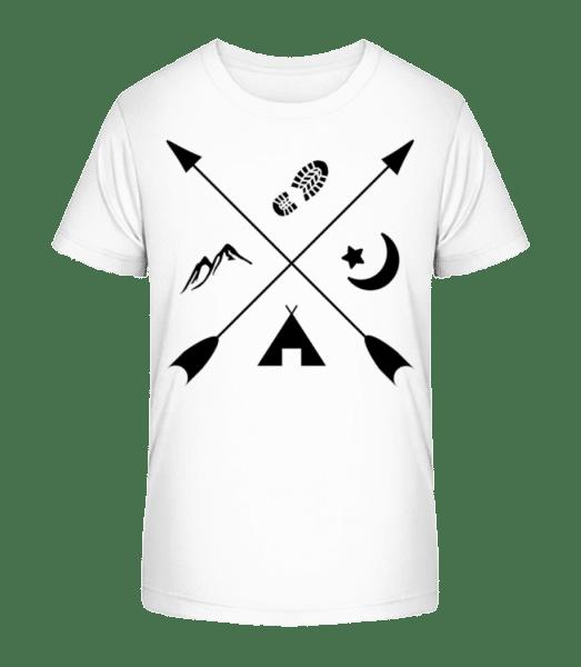 Hipster Pfeile - Kid's Premium Bio T-Shirt - White - Vorn