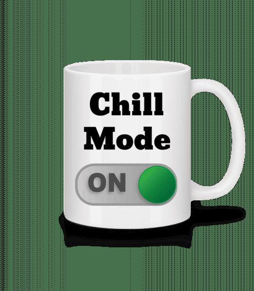 Chill Mode On - Keramický hrnek - Bílá - Napřed