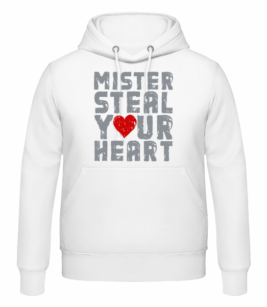 Mister Steal Your Heart - Men's Hoodie - White - Vorn