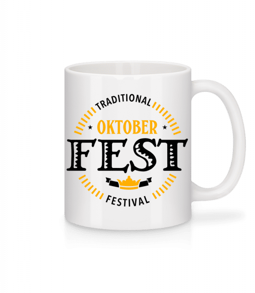 Traditional Oktober Festival - Tasse - Weiß - Vorn