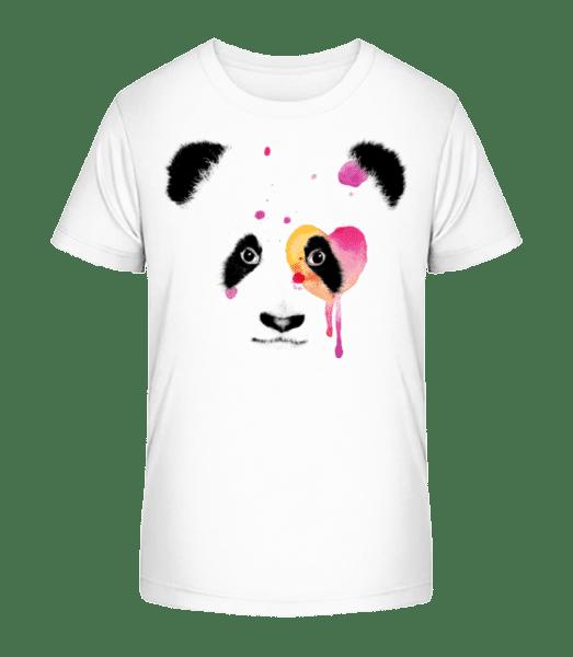 Watercolor Panda - Kid's Premium Bio T-Shirt - White - Vorn