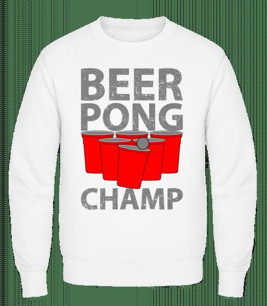 Beer Pong Champ - Classic Set-In Sweatshirt - White - Vorn