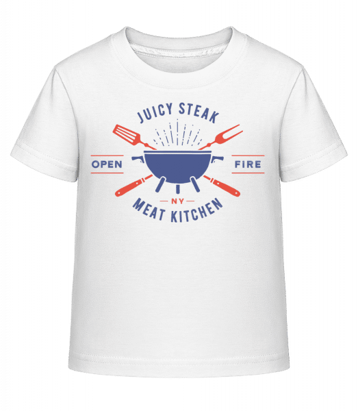 Juicy Steak - Kid's Shirtinator T-Shirt - White - Front