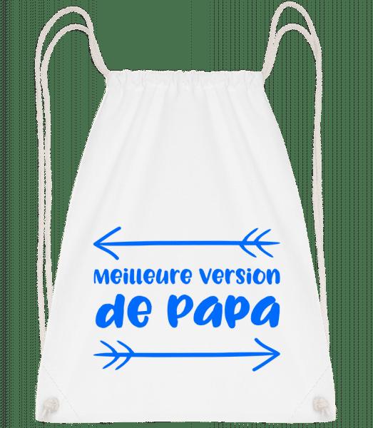 Meilleure Version De Papa - Sac à dos Drawstring - Blanc - Vorn