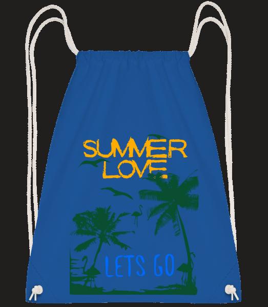 Summer Love Icon - Drawstring Backpack - Royal blue - Vorn