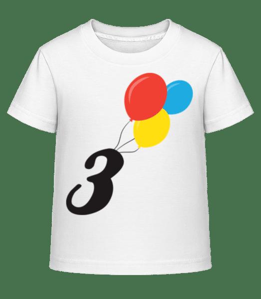Anniversary 3 Balloons - Kid's Shirtinator T-Shirt - White - Front