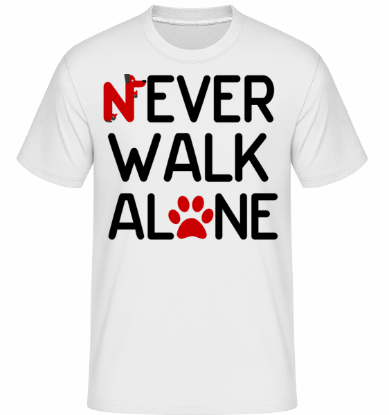 Never Walk Alone -  Shirtinator Men's T-Shirt - White - Vorn