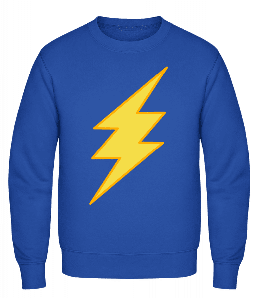 Flash Icon - Classic Set-In Sweatshirt - Royal Blue - Vorn