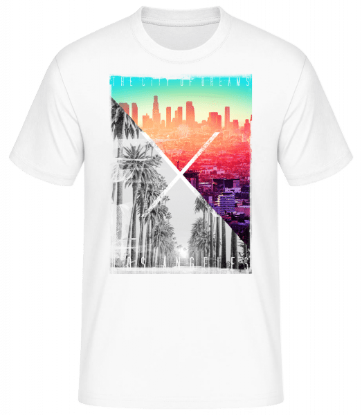 Los Angeles Dream - Basic T-Shirt - Weiß - Vorn