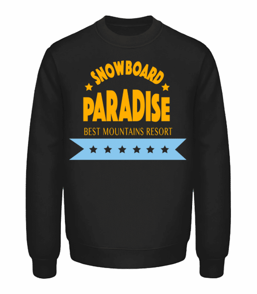 Snowboard Paradise Sign - Unisex Sweatshirt - Black - Vorn