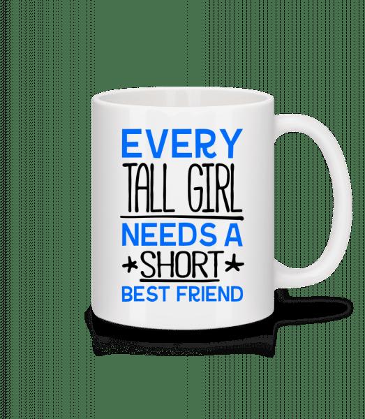 A Short Best Friend - Mug - White - Vorn