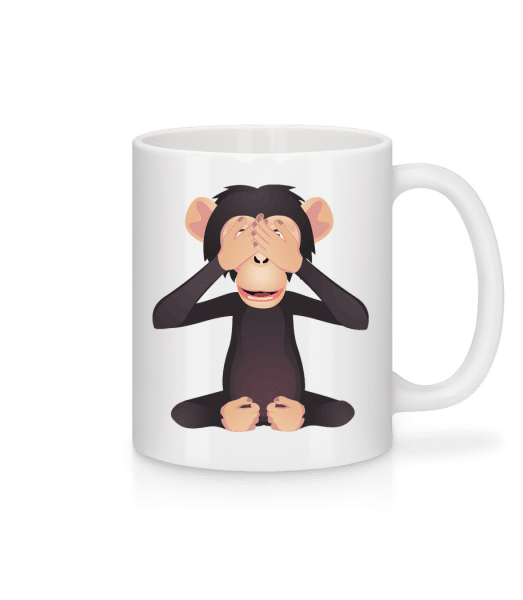 Blind Monkey - Mug - White - Vorn