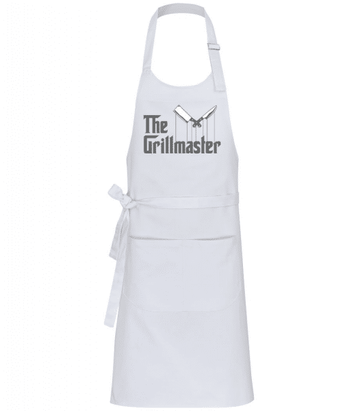 The Grillmaster - Professional Apron - White - Front