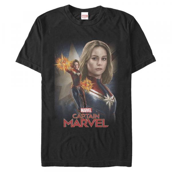 Cap Marvel - Captain Marvel - Men's T-Shirt - Black - Front