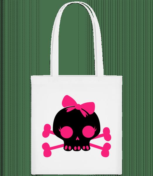 Emo Skull Pink - Carrier Bag - White - Vorn