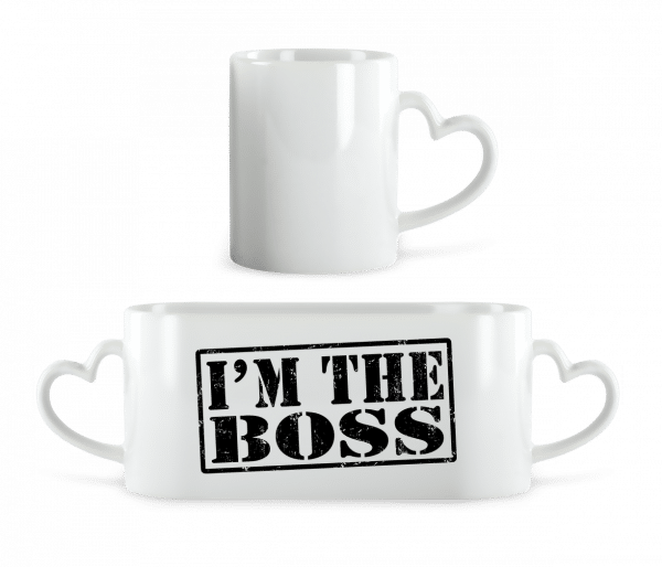 I'm The Boss - Heart Mug - White - Vorn