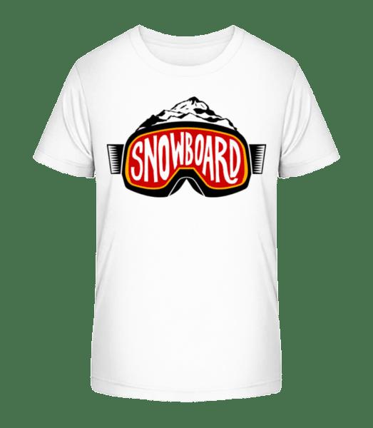 Snowboarding Logo - Kid's Premium Bio T-Shirt - White - Vorn