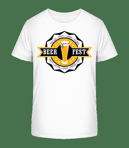 Beer Fest - Kid's Premium Bio T-Shirt - White - Vorn