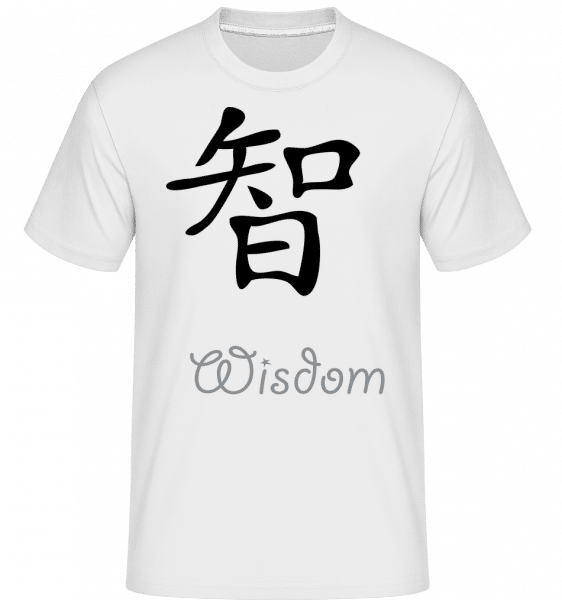 Chinese Sign Wisdom -  Shirtinator Men's T-Shirt - White - Vorn