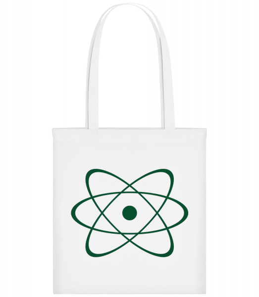 Symbol Of An Atom - Carrier Bag - White - Vorn