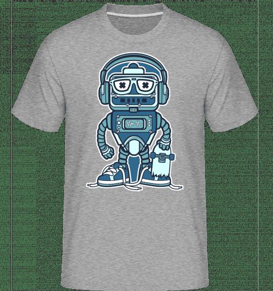 Robot Skater -  Shirtinator Men's T-Shirt - Heather grey - Front