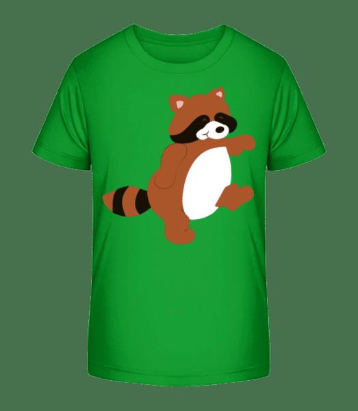 Děti Comic - Racoon - Detské Premium Bio tričko - Zelená - Napřed