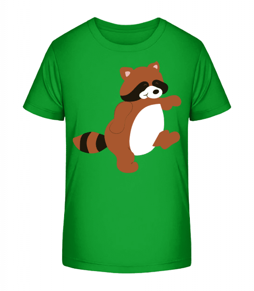 Deti Comic - Racoon - Detské Premium Bio tričko - Zelená - Predné