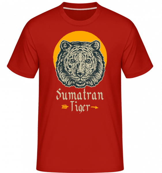 Sumatran Tiger -  Shirtinator Men's T-Shirt - Red - Vorn