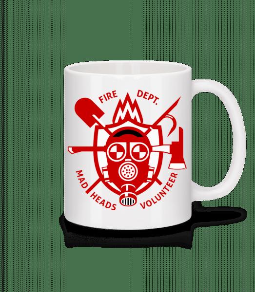 Fire Dept Mad Heads - Mug - White - Vorn