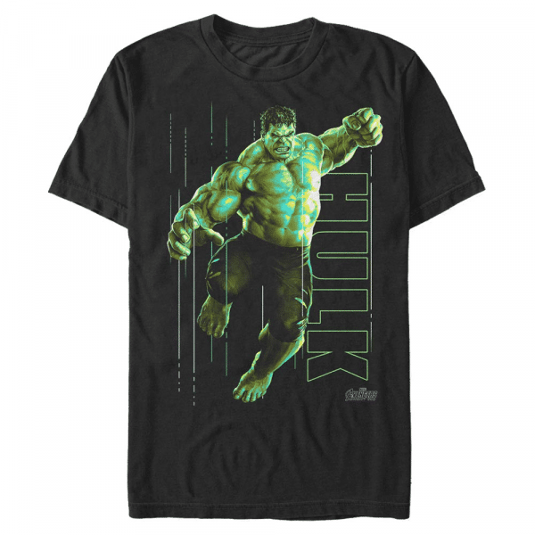 Hulk Glow - Marvel Avengers Infinity War - Men's T-Shirt - Black - Front