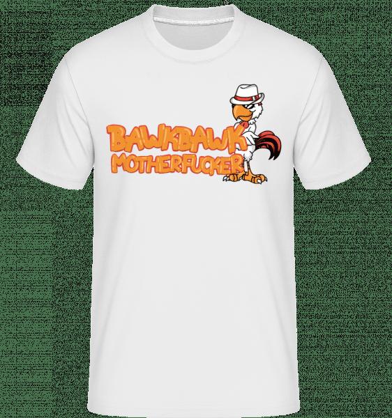 Huhn Weißer Hut - Shirtinator Männer T-Shirt - Weiß - Vorn