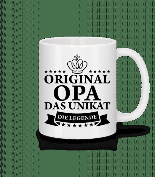 Opa Das Unikat Die Legende - Tasse - Weiß - Vorn