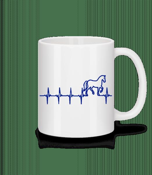 Herzschlag Pferd - Tasse - Weiß - Vorn